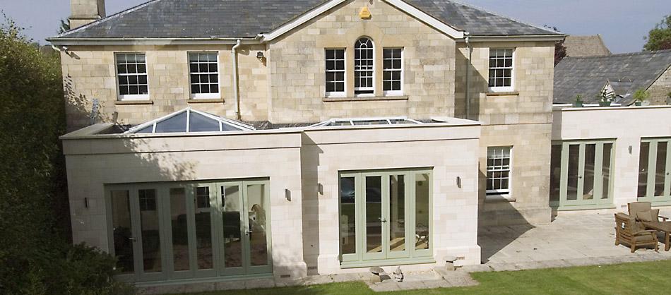Orangerie Roof Amp Black Aluminum Bi Folding Doors With